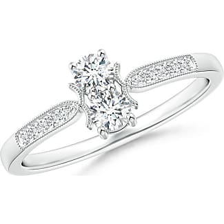 Angara Solitaire 4-Prong Diamond Ring With Milgrain Detailing