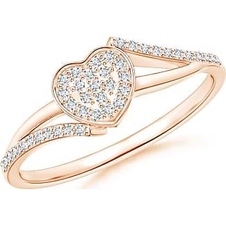Angara Composite Round Diamond Heart Bypass Ring