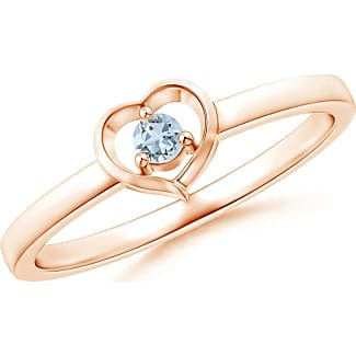Angara Floating Trio Diamond Heart Promise Ring