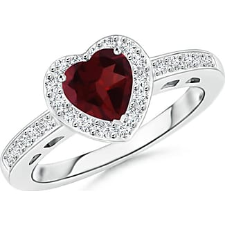 Angara Heart Shaped Pink Sapphire Halo Ring with Diamond Accents