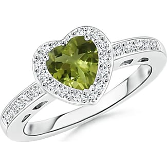 Angara Prong Set Peridot Bypass Ring with Diamond Accents