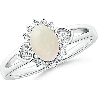 Angara Vintage Two Stone Diamond Ring with Swirl Motifs