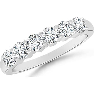 Angara Womens Round Diamond Half Eternity Band in Prong Setting