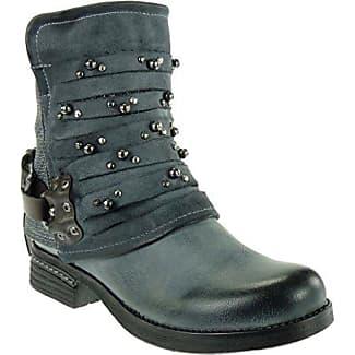 Angkorly - damen Schuhe Stiefeletten - Biker - Reitstiefel - Kavalier - Nieten - besetzt - Geflochten - nähen Blockabsatz 3 CM - Braun F2255 T 40