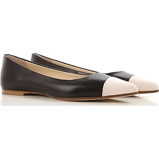 Ballet Flats Ballerina Shoes for Women On Sale, Black, Leather, 2017, 3.5 4.5 5.5 Anna Baiguera
