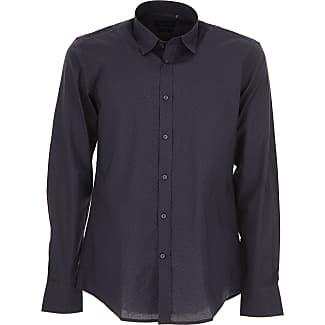 Camisa de Hombre, Azul Intenso, Algodon, 2017, L M S XL XS XXL XXL XXXL Antony Morato