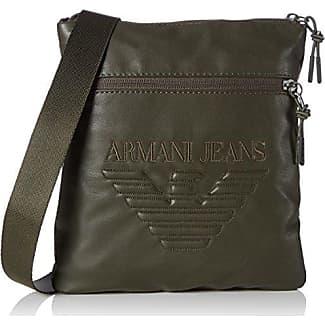 Armani Jeans Piattina Grande, Sacs portés épaule homme, Grün (Verde), 23x2x21 cm (B x H T)