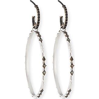 Armenta New World Black Sapphire Hoop Earrings