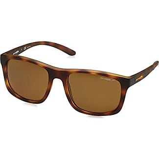 Mens 0AN4185 23627D Sunglasses, Matte Stone Washed Gold/Mirrorgold, 58 Arnette
