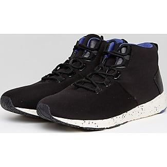 Zapatillas hi-top en negro con suela moteada de ASOS