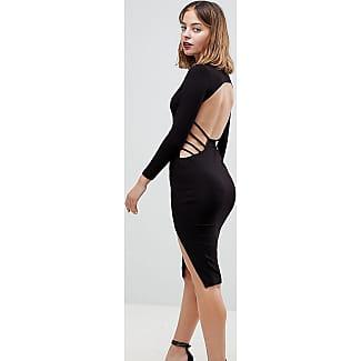 Langes schwarzes kleid mit ruckenausschnitt