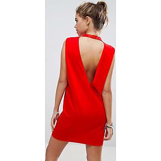 Rotes kleid einfarben