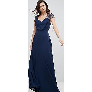 Asos robe bleu marine dentelle