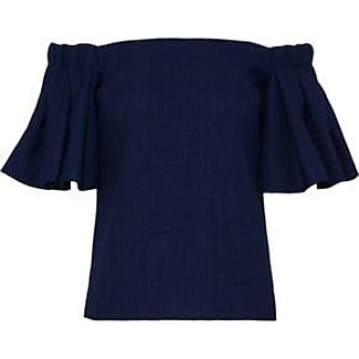 Badgley Mischka Woman Off-the-shoulder Ruffled Woven Top Magenta Size XS Badgley Mischka