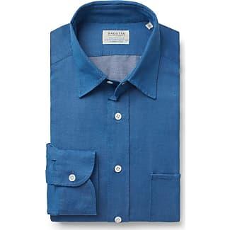 Casual shirt St Tropez Kent collar blue Bagutta