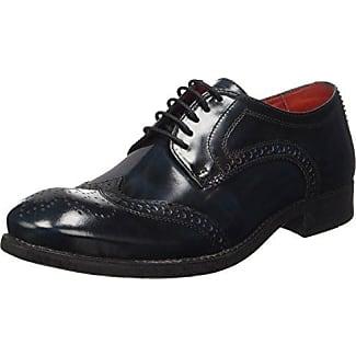 Base London Shore - Zapatos de cordones de cuero para hombre marrón Marron (201 Pull Up Brown) 42