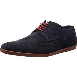 Base London Woburn Pi06 - Zapatos de cuero para hombre, color negro, talla 41