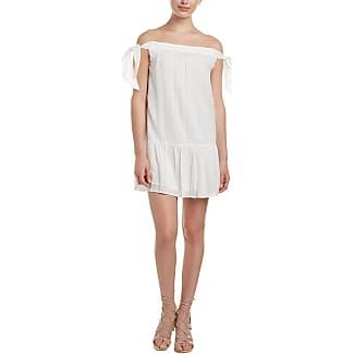 Bcbg white dress with gold emerald