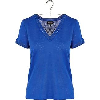 Leinen-T-Shirt mit V-Ausschnitt und Lurex-Details BERENICE