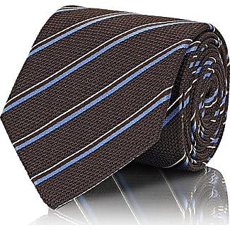 Mens Diamond-Dot Silk-Linen Necktie Bigi Cravatte Milano