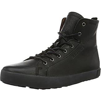 IM16 - Zapatillas Altas de Cuero Hombre, Color Negro, Talla 43 EU Blackstone