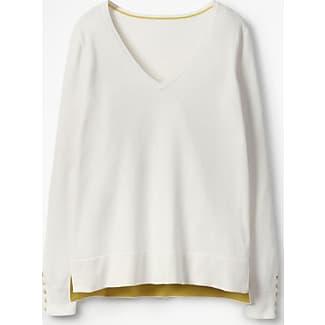 Unverzichtbarer Pullover mit U-Ausschnitt Ivory Damen Boden S