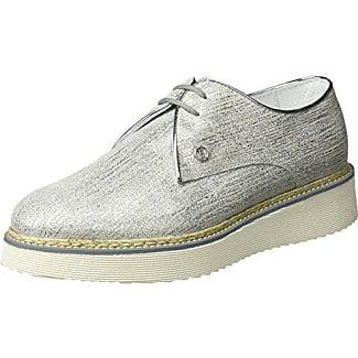 ES 30848 Glitter, Zapatos de Cordones Derby para Mujer, Plata, 38 EU Buffalo