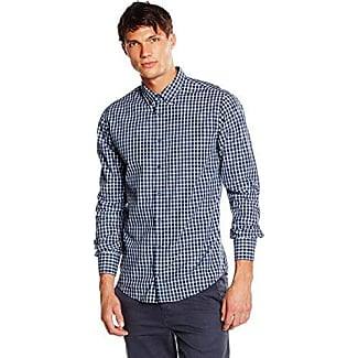 Boss Orange Epop, Camisa Manga Larga Hombre, Multicolor (Dark Blue 404), Large HUGO BOSS