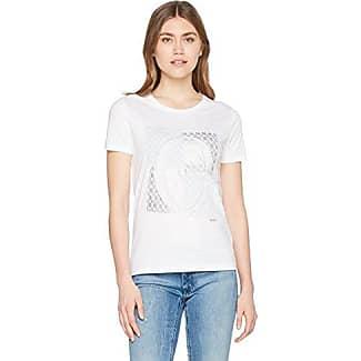 HUGO BOSS Tershirt, Camiseta para Mujer, Blanco (White 100), Medium