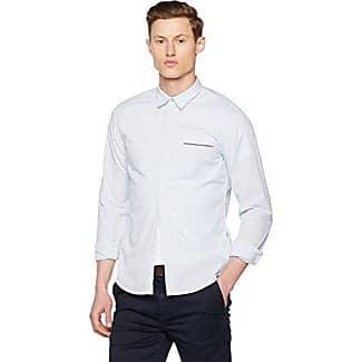 Boss Orange 10195828 01, Camisa Hombre, Blanco (White), Small HUGO BOSS