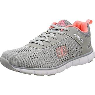 Bruetting Circle - Zapatos para Caminar de Material sintético Mujer, Gris - Grau (Anthrazit/Orange), 47 EU