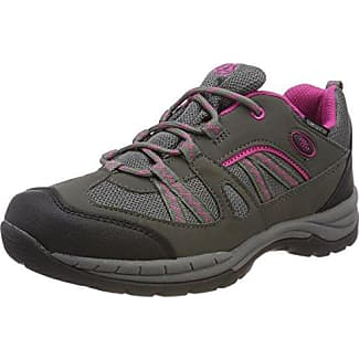 Bruetting Circle - Zapatos para Caminar de Material sintético Mujer, Gris - Grau (Anthrazit/Orange), 44 EU