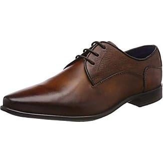 Bugatti U7909PR1GW - Zapatos con Cordones de Cuero Hombre, Color Marrón, Talla 43