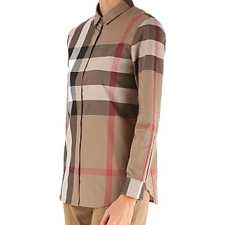 Shirt for Women On Sale, Taupe Brown, Cotton, 2017, 12 Burberry