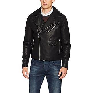 Asymmetric Biker, Chaqueta para Hombre, Negro, X-Large Burton Menswear London