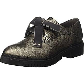 CAFèNOIR Derby - botas de caño bajo de piel mujer, color beige, talla 36