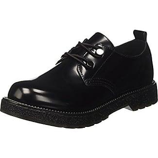 CafèNoir LFH925010, Zapatos de Cordones Derby para Mujer, Negro (Nero 010), 35 EU