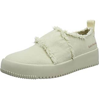 Rania Canvas/Patent, Baskets mode femme - Blanc (Ohb), 36 EUCalvin Klein Jeans