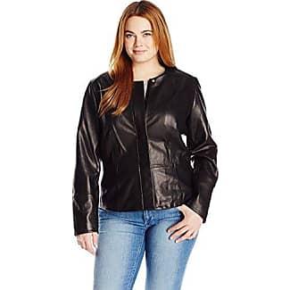 Calvin klein women's brown leather jacket