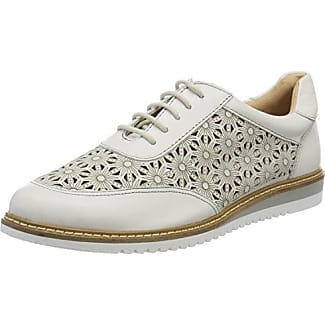 Caprice 23607, Zapatos de Cordones Oxford para Mujer, Blanco (White/Rosegold 118), 40 EU