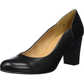 Caprice 22404, Zapatos de Tacón para Mujer, Negro (Black Rept Com), 40.5 EU
