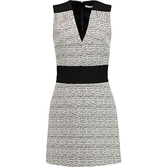 Carven Woman Cloqué Mini Dress Black Size 36 Carven