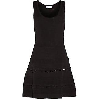 Carven Woman Fluted Stretch-knit Mini Dress Black Size M Carven