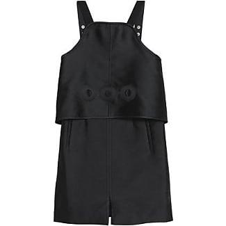 Carven Woman Layered Laser-cut Twill Mini Dress Black Size 36 Carven