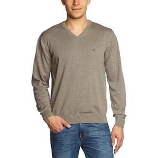 Jersey de punto de manga larga con cuello mao para hombre, color piedra (stone) 024, talla 48 Casamoda