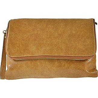 CTM Womans shoulder Clutch, small bag in genuine leather made in Italy - 19x17x6 Cm Chicca Tutto Moda