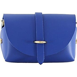 CTM Womans Shoulder Clutch, small bag with shoulder strap, genuine leather made in Italy - 18x11x9 Cm Chicca Tutto Moda