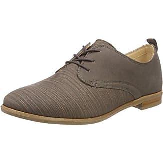Clarks Hamble Oak, Zapatos de Cordones Brogue para Mujer, Beige (Nude Patent), 35.5 EU