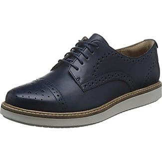 Clarks Teadale Rhea, Zapatos de Cordones Brogue para Mujer, Gris (Light Grey Suede), 39 EU
