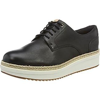 Clarks Teadale Rhea, Zapatos de Cordones Brogue para Mujer, Beige (Pewter Suede), 39.5 EU